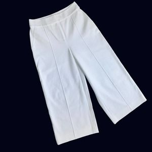 0/XS New KATE SPADE White Structured Culottes